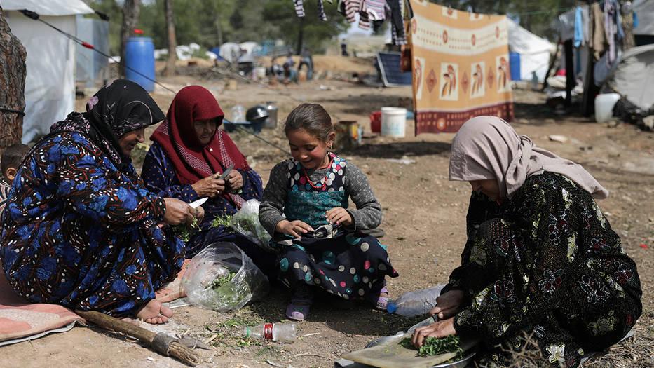 Los refugiados sirios viven en precarias condiciones