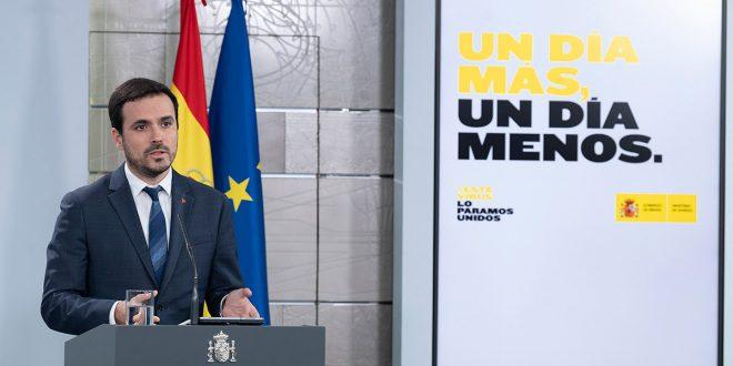 Garzón: Hay consenso para aprobar la renta mínima cuanto antes