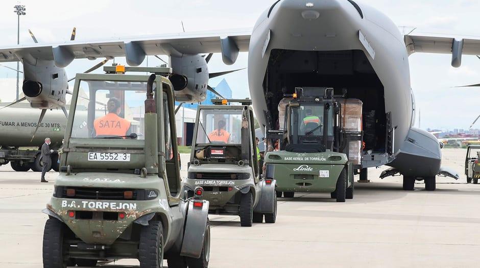 En el marco de la Operación Balmis personal militar trasladó equipos y medicinas / Ejército del Aire
