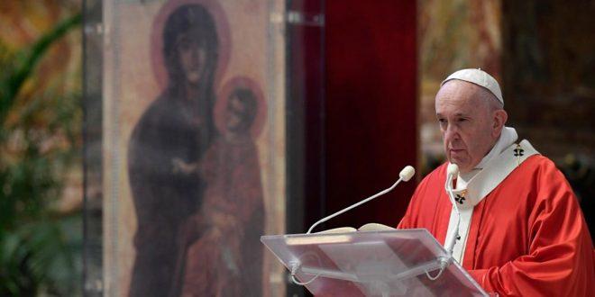 Francisco en Domingo de Ramos: Los verdaderos héroes sirven a los demás