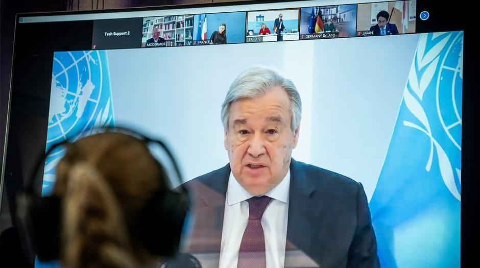 António Guterres instó al mundo a trabajar conjuntamente para derrotar al virus del SARS-CoV-2 y la xenofobia