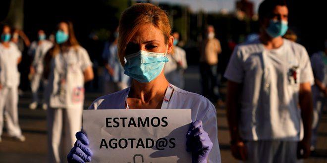 """Los sanitarios reclaman: """"¿Y a nosotros, quién nos protege?"""""""