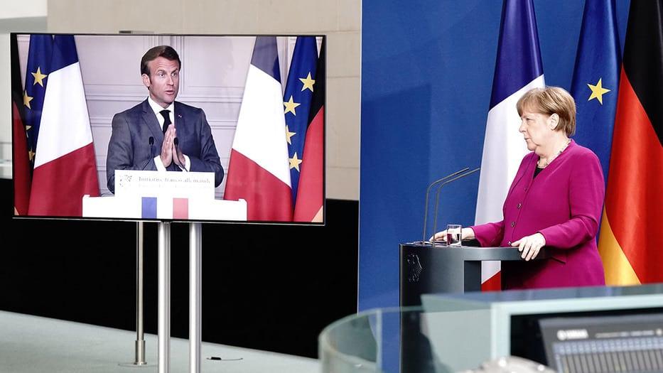 Macron y Merkel respaldan medio billón en bonos para la recuperación