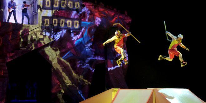 Cirque du Soleil hace acrobacias