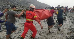 Alud sepultó a personas en Birmania