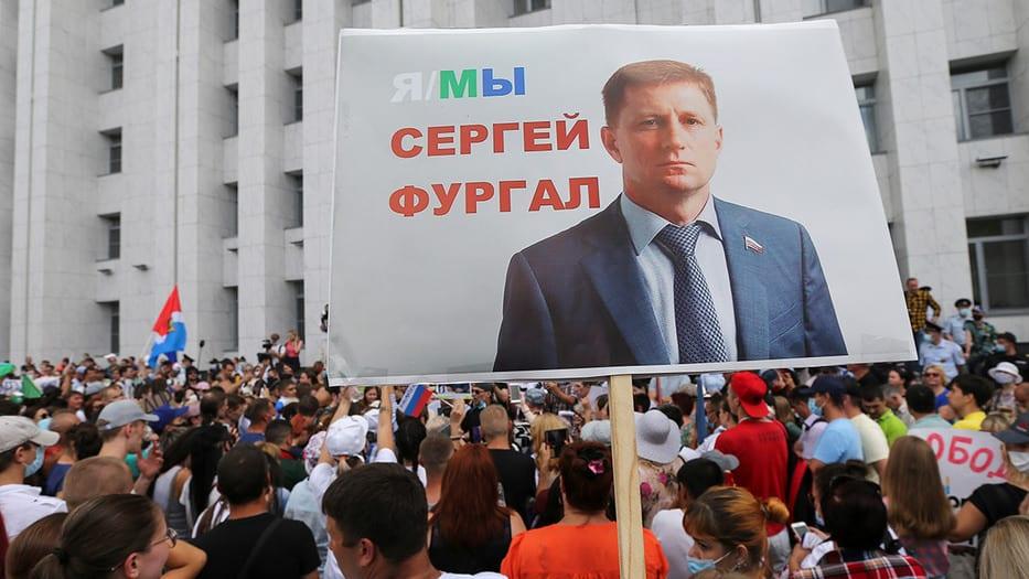 Protestas en el este de Rusia