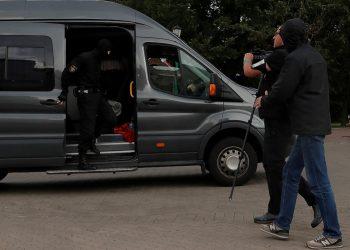 Lukashenko cumplió y retiró las credenciales a periodistas extranjeros / Foto REUTERS / Vasily Fedosenko