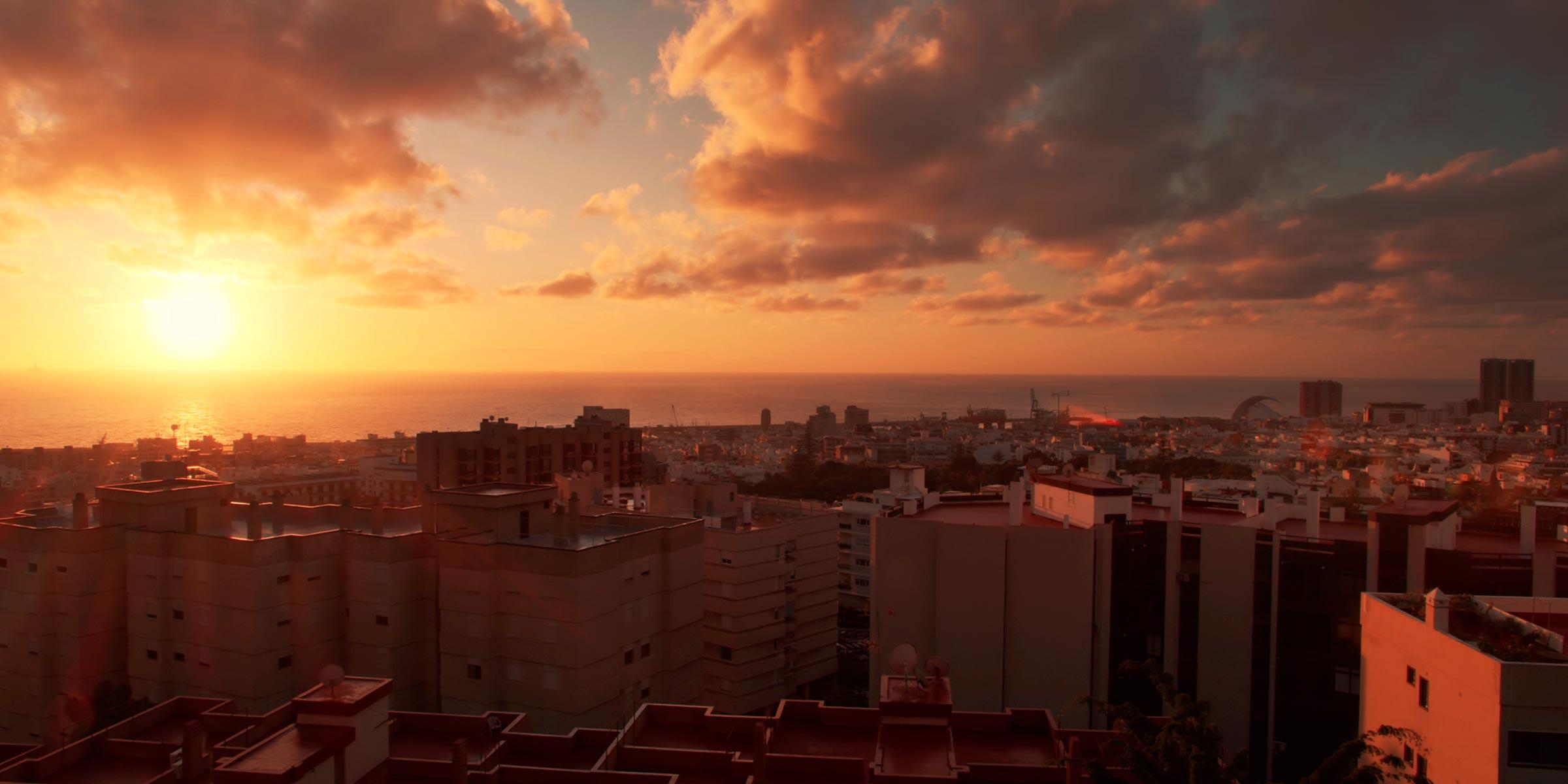 Vista de Santa Cruz de Tenerife. Tenerife, España.