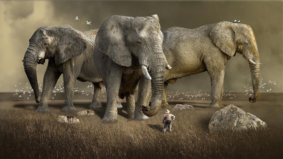Elefantes gigantes