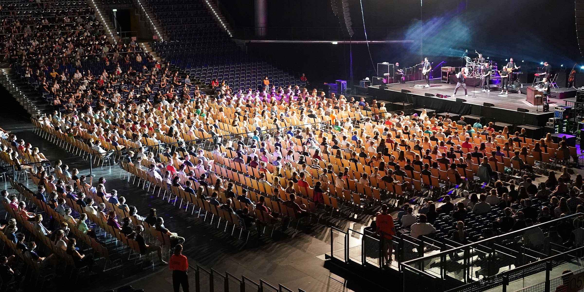 corona test concert Concierto en Alemania