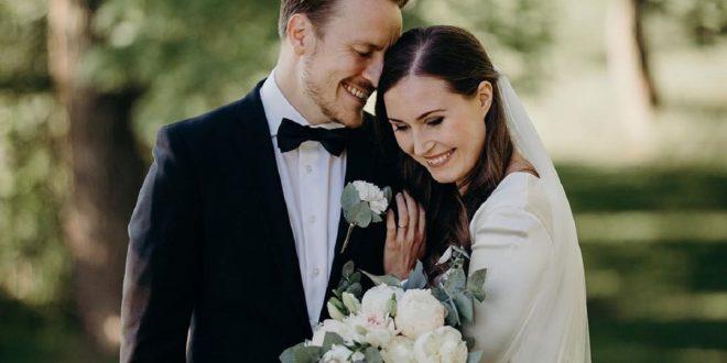 Finlandia es más feliz, se casó su primera ministra Sanna Marin