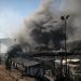 Estalla un incendio en el hacinado campo de refugiados de Moria en Grecia