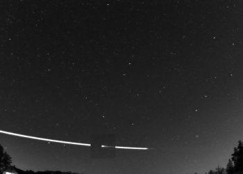Trayecto del meteoroide captado por la ESA/ESA