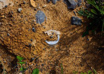 Plástico en el suelo