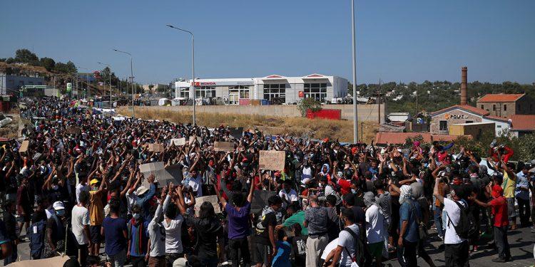 refugiados Lesbos