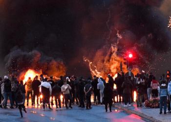 Disturbios en Malmo, Suecia