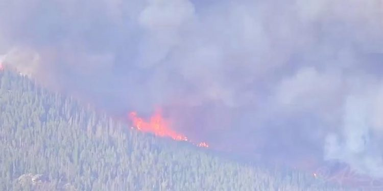 El incendio del Parque Nacional de las Montañas Rocosas en Colorado marca cifras significativas