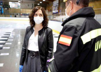 Isabel Díaz Ayuso en la morgue de Majadahonda / REUTERS