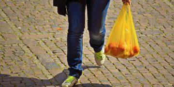 Compras en bolsas de plástico