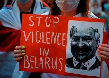Más de 800 personas fueron detenidas en Bielorrusia durante la última manifestación en contra de Alexander Lukashenko / REUTERS