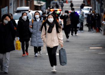 Los estudiantes toman los exámenes anuales de ingreso a la universidad en medio de la pandemia de la enfermedad del coronavirus (COVID-19)