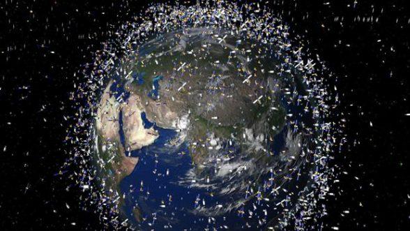 Imagen generada por la NASA de la presencia de basura espacial en 2009 / NASA