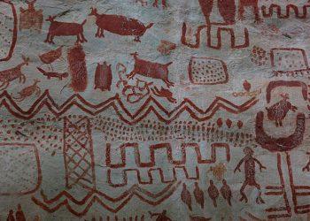 Descubrimiento de pinturas rupestres en Colombia causa polémica debido a un artículo de The Guardian / Wikipedia Imágenes