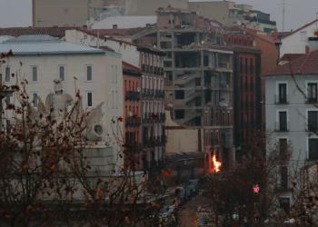 Explosión por fuga de gas en el centro de Madrid