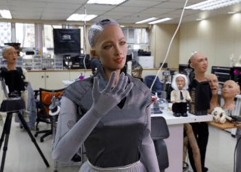 Se desarrollan robots humanoides en el laboratorio de robótica Hanson en Hong Kong