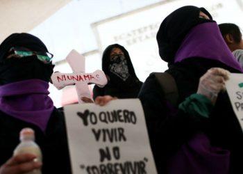 Protesta por violencia doméstica. Reuters