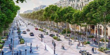 El nuevo plan crea más espacio para peatones y árboles. Imagen: PCA-Stream