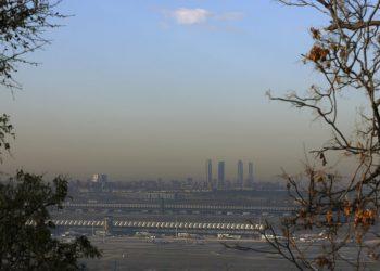 La famosa nube de polución de Madrid, España. Reuters