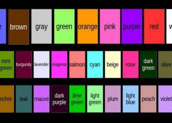 los nuevos nombres de los colores