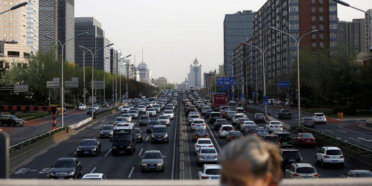 Atascos en Pekín, China, durante el mes de abril. 2020.TINGSHU WANG / REUTERS
