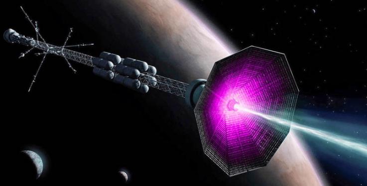 Concepto de la nave con motor de fusión nuclear. (ITER)