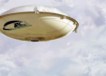 dirigible en forma de platillo volador
