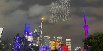 Una empresa ha logrado crear un gigantesco código QR para que los ciudadanos descargasen un videojuego