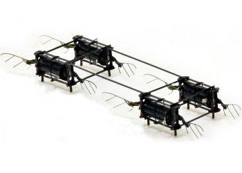El dron es del tamaño de un mosquito y son tan ligeros como flexibles
