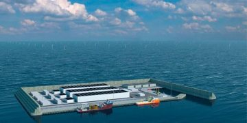 La isla artificial danesa será una central de energía limpia. Danish Energy Agency