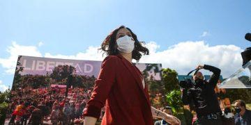 Isabel Díaz Ayuso durante un acto de la reciente campaña electoral en Madrid. FB