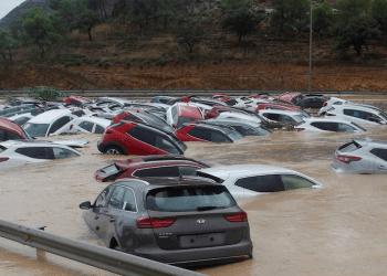 Las fuertes lluvias y tormentas continúan en España por el paso de una DANA (depresión aislada en niveles altos).